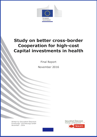 Couverture : Study on better cross-border Cooperation for high-cost Capital investments in health