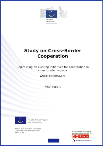 Couverture : Study on Cross border cooperation – Capitalising on existing initiatives for cooperation in cross-border regions