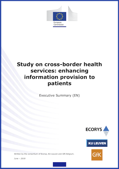 Couverture: Study on cross-border health-services: enhancing information provision to patients